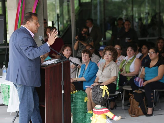 """ABC's """"What Would You Do?"""" host John Quiñones speaks about diversity Thursday at the El Paso Community College Valle Verde Campus as part of Hispanic Heritage Month."""