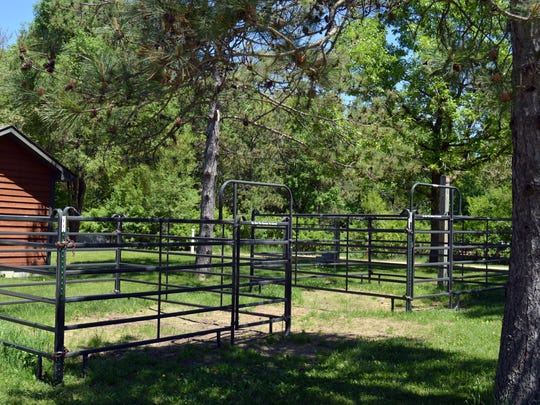 Newly installed horse corrals at Horseriders Campground