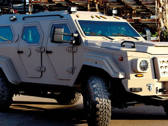 The Suburban Critical Incident Team is looking into a Gurkha by Terradyne Armored Vehicles.