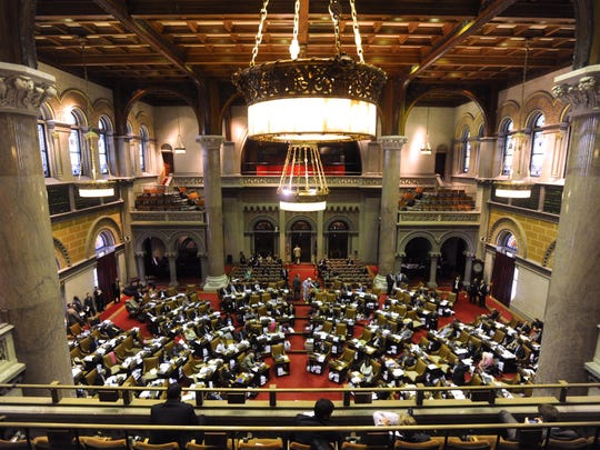 The New York State Assembly, which recently voted 133-1 on a bill to revise the state's teacher-evaluation system.