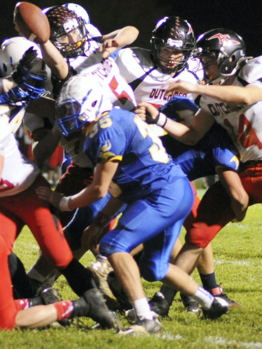 Annville-Cleona's Adam Fox scored three touchdowns in a losing cause on Friday night.
