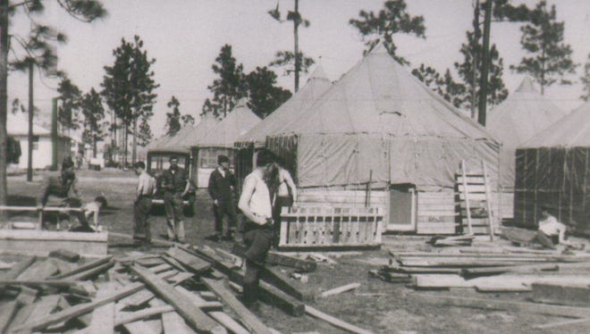 Camp Blanding near Starke became the fourth most populous city in Florida during World War II.