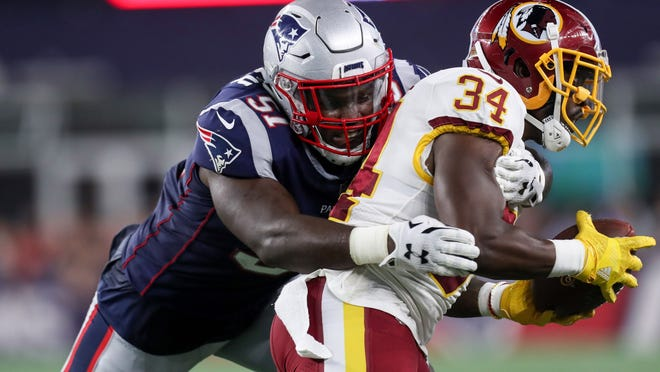 New England linebacker Ja'Whaun Bentley is hoping to reclaim his starting role after the departure of Jamie Collins.