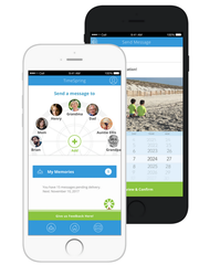 Users can add friends and family to their TimeSpring wheel to share photos and video with them.
