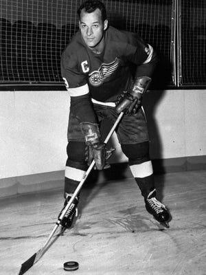 Gordie Howe of the Detroit Red Wings, on Oct. 22, 1959.