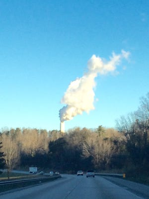 The Lake Julian smokestack emits mostly steam, but environmentalists say it also contains considerable sulfur dioxide.