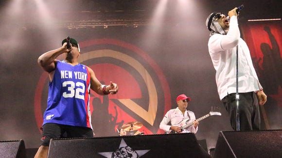 Prophets of Rage performed Tuesday night in the County Coliseum.