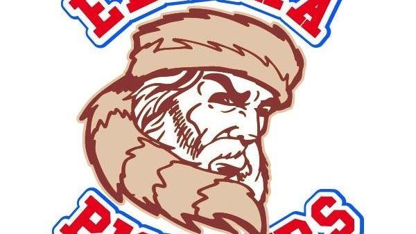 Elmira Pioneers logo.