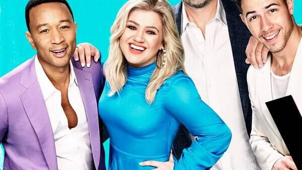 "John Legend, Blake Shelton, Kelly Clarkson and Nick Jonas as a coach on ""The Voice"" on NBC."