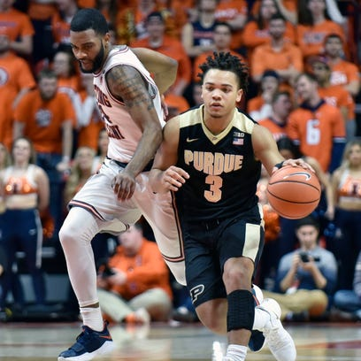 Purdue's Carsen Edwards is throwing down in a win over Illinois