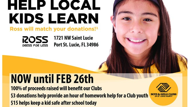 Ross Dressfor Less is asking its customers to support Boys & Girls Clubs in February.