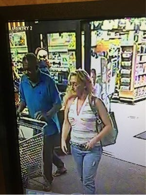 Detectives are now attempting to identify a man (left) who was seen with Zanardi at a local grocery store at the end of September.
