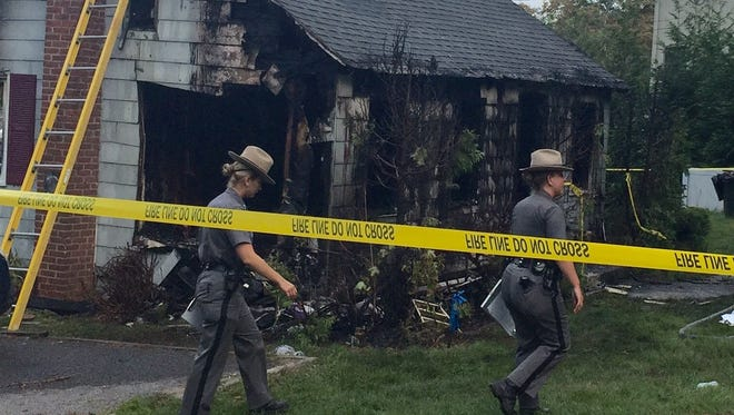 A man died when fire erupted at 2 Maple Lane in Southeast, Aug. 31, 2016.