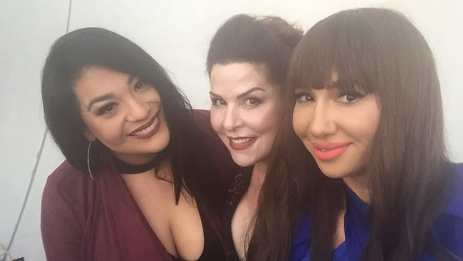 "Suzette Quintanilla Arriaga (from left), Jackie Guerra and Jackie Cruz will participate in a panel, ""One Person Unites Us: Reflections of Selena"" at 1 p.m. Saturday, March 25, during Fiesta de La Flor in North Bayfront Park."
