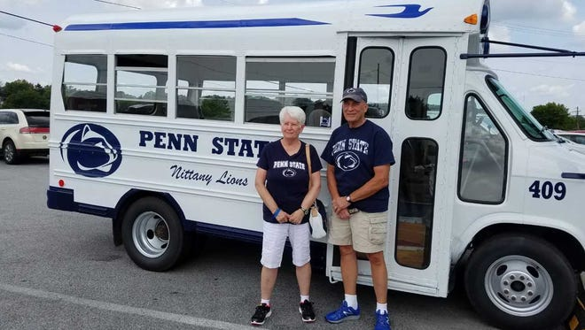 Jerry and Vera Miller converted an old school bus into a tailgating machine.