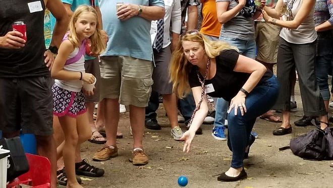 Historic roll: Dorothy Henckel becomes the first women to win a linear bocce title.