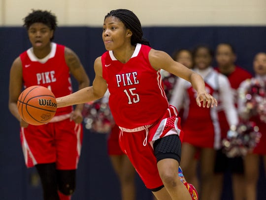 Pike senior Angel Baker