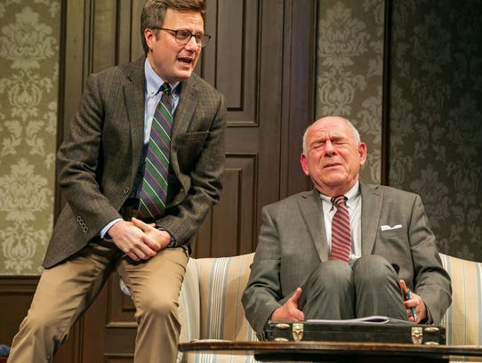 """Dave Riley, left, as Manoel Felciano and Wolpe in """"The"""