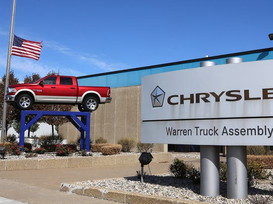 The FCA Warren Truck Assembly Plant in Warren in October 2015.