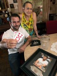 Pensacola Poker Player, John Langevin shows off his