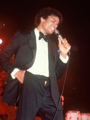 Michael Jackson performs at the Jackson 5 Destiny tour at Nassau Coliseum on Nov. 8, 1979.