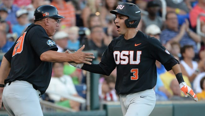 At 5-foot-7, Oregon State middle infielder Nick Madrigal (3) has hit at nearly a .500 clip all season long.