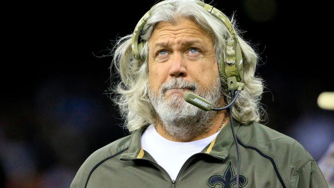 Saints defensive coordinator Rob Ryan against the Tennessee Titans this season.