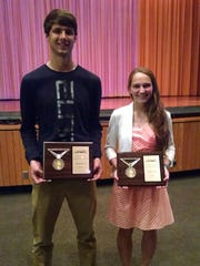 Wade Mills, left, and Natalie Nye were named the Male