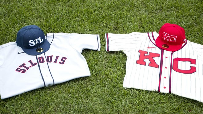 These will be the replica jerseys the teams will wear for the Salute to Negro Leagues game on Sept. 22 in Kansas City. The jerseys will be auctioned off.