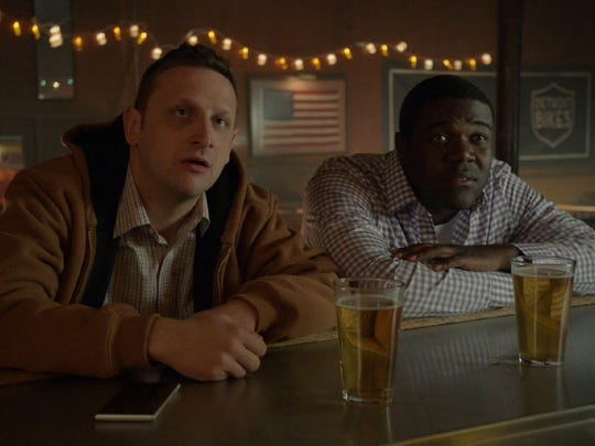 "Tim Robinson, left, and Sam Richardson in Comedy Central's new series  ""Detroiters."""