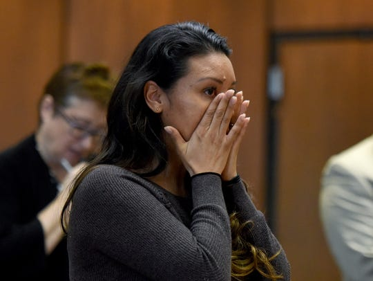 Yring Richardson, a sister of murder victim Diana Boggio, shares how painful the loss of her sister has been with Judge Ronald Wigler prior to the sentencing of Pedro Lora-Pena of Belleville. Pena was sentenced to 14 years for first degree aggravated manslaughter in the killing of his girlfriend Diana Boggio on Monday.