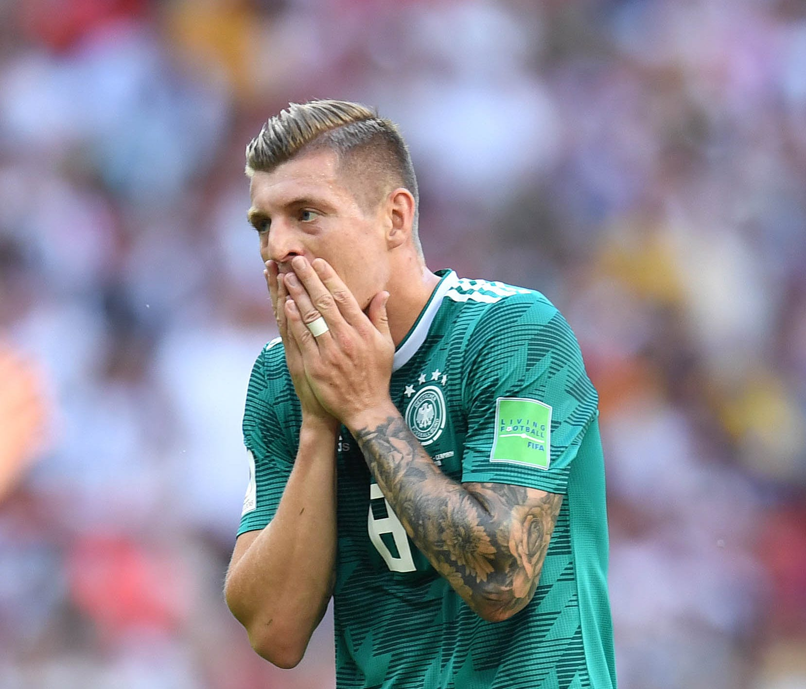 Germany's Toni Kroos durin gthe loss against Korea.