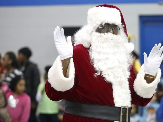 Soul Santa arrives at the Walker-Ford community center.