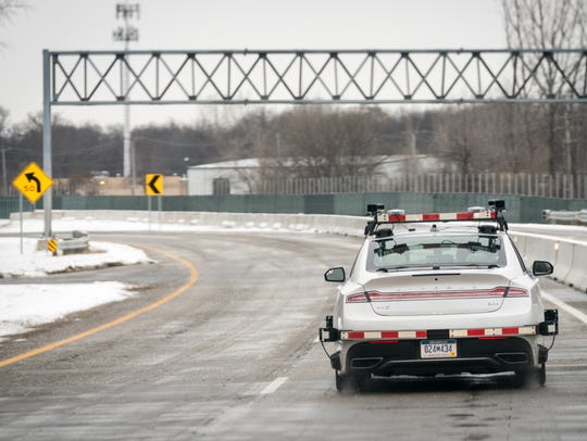 Visteon tests a driverless car at the American Center