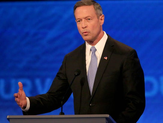 Martin O'Malley speaks at the Democratic debate at