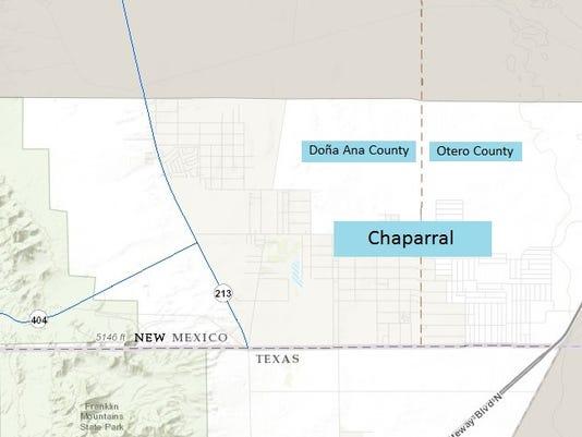 Chaparral, N.M., map