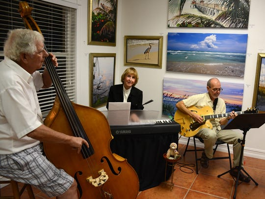 Bob Smith, from left, Jean Packard and Mark Ricci perform as the Jean Packard Trio.