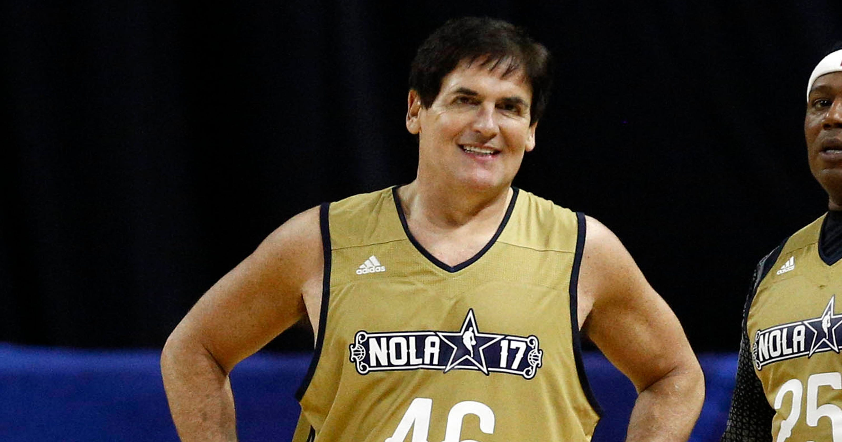 b110c7d58 Mark Cuban takes jab at Trump by wearing No. 46 in NBA Celebrity Game