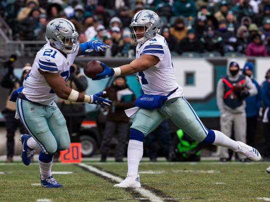 Cowboys running back Ezekiel Elliott leads the NFL in rushing yards with 1,349.