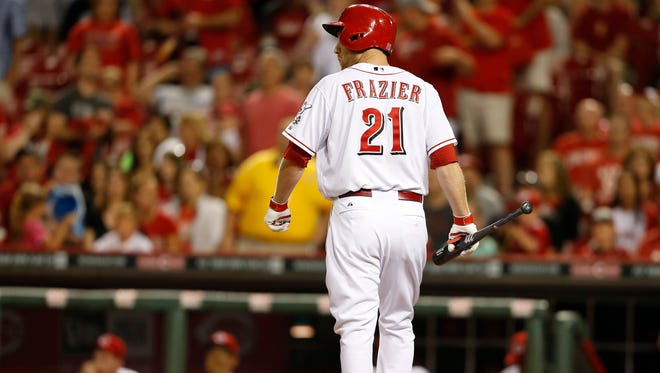 Cincinnati Reds third baseman Todd Frazier wanted to pick up his team by snapping a no-hitter.