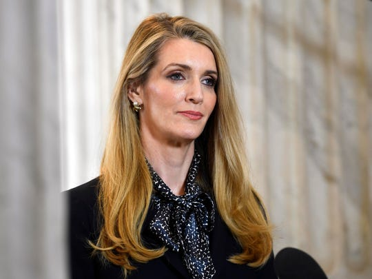 Sen. Kelly Loeffler, R-Ga., was appointed to the U.S. Senate last year on the hope that she would help the GOP hold on to moderates uncomfortable with the party's right turn under President Donald Trump.