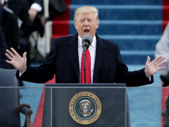 President Donald Trump's  inaugural address invokes