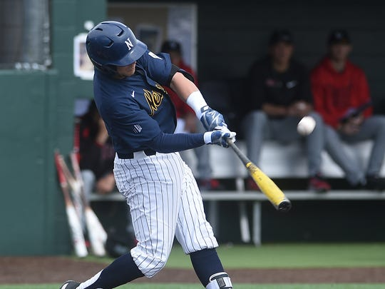 Joshua Zamora, shown batting last month against UNLV, has led the Wolf Pack's offensive charge this season.