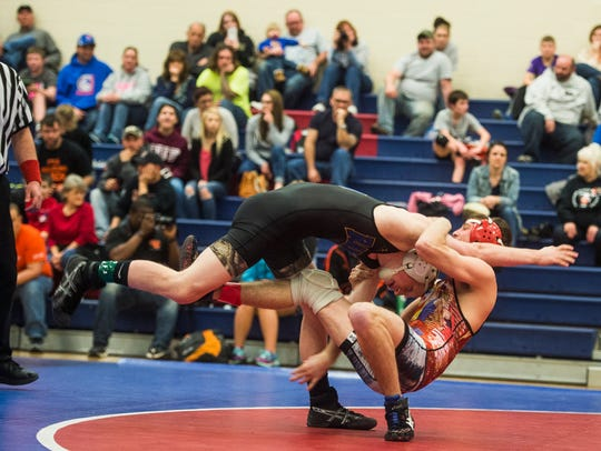 New Oxford's Mike Rudisill takes on Kennard-Dale's