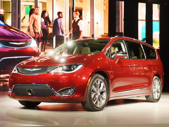 Chrylser reveal of the Pacifica mini-van at the North