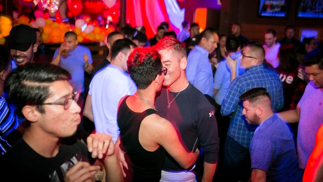Things got cozy on the dance floor during DJ Image's Birthday Circus at Charlie's Phoenix on Saturday, January 6, 2018.