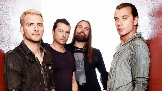 On Oct. 21, Bush (from left: Corey Britz, Chris Traylor, Robin Goodridge and Gavin Rossdale) will release its new album 'Man on the Run,' featuring single 'The Only Way Out,' premiering at USA TODAY.