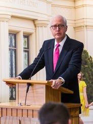 Elder Larry Wilson, executive director of the LDS temple
