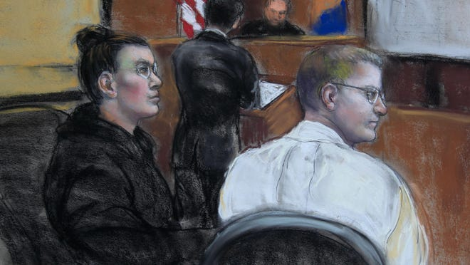 Defendants Amy Gonzalez and David Matusiewicz, pictured Friday at their federal cyberstalking trial.