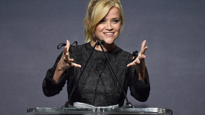 Reese Witherspoon talks about her experience of abuse in Hollywood before speaking about honoree Laura Dern at the 'Elle' Women in Hollywood event.
